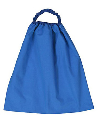 Zac 4 Kids Bavaglino con Elastico, Blu con Tartaruga - 100% Cotone (Perfetto per l'Asilo) Bavagli Con Elastico
