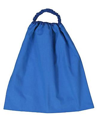 Zac 4 Kids Bavaglino con Elastico Collezione Palio, Blu con Tartaruga - 100% Cotone (Perfetto per l'Asilo) Bavagli Con Elastico