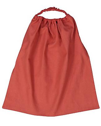 Zac 4 Kids Bavaglino con Elastico Collezione Palio, Rosso con Elefante Torre - 100% Cotone (Perfetto per l'Asilo) Bavagli Con Elastico