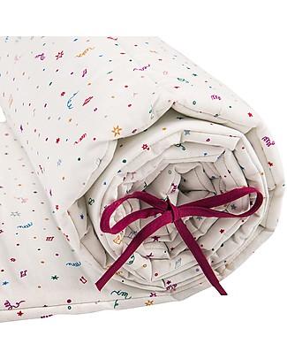 Zac 4 Kids Paracolpi imbottito per Lettino - Collezione Venezia, Confetti - 100% Cotone  Paracolpi