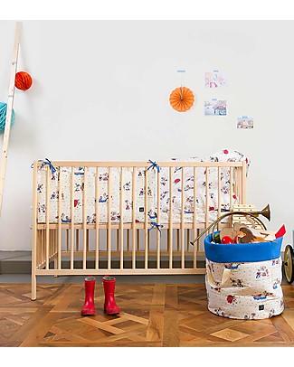 Zac 4 Kids Paracolpi imbottito per Lettino Collezione Venezia, Maschera - 100% cotone Paracolpi
