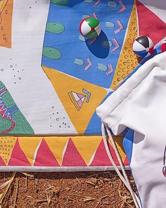 Zac 4 Kids Tappeto Giochi Imbottito Collezione Palio, Campo di Siena, Stimola la Creatività - 100% cotone Tappeti