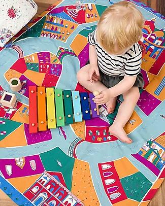Zac 4 Kids Tappeto Giochi Imbottito Venezia - Stimola la Creatività - 100% cotone Tappeti