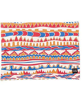Zac 4 Kids Tovaglietta Americana Collezione Palio, Stripes con Retro Blu - 100% cotone Set Pappa