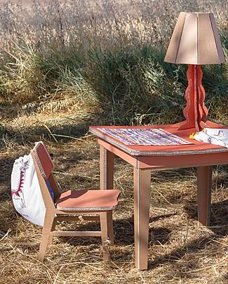 Zac 4 Kids Tovaglietta Americana Collezione Palio, Stripes con Retro Rosso - 100% cotone Set Pappa