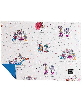 Zac 4 Kids Tovaglietta Americana - Collezione Venezia, Cobalto/Maschera - 100% cotone Set Pappa