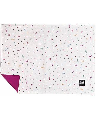 Zac 4 Kids Tovaglietta Americana - Collezione Venezia, Magenta/Confetti - 100% cotone null
