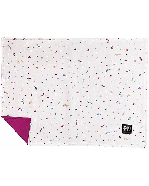 Zac 4 Kids Tovaglietta Americana - Collezione Venezia, Magenta/Confetti - 100% cotone Set Pappa