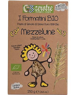 Zero Tre Mezzelune di Semola, Biologico - 250 gr Pappe