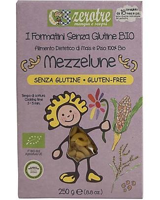 Zero Tre Mezzelune Mais e Riso, Biologiche, Gluten Free - 250 gr Pappe