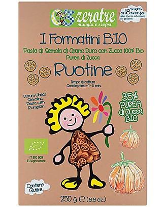 Zero Tre Ruotine con Purea Fresca di Zucca, Biologico - 250gr Pappe