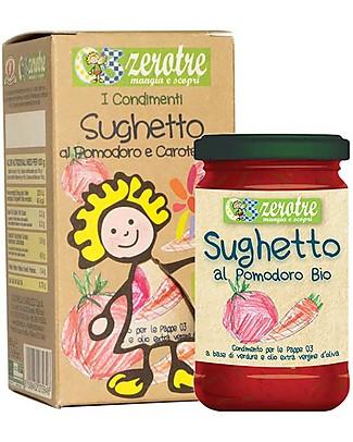 Zero Tre Sughetto al Pomodoro e Carote, Biologico - 180gr Pappe