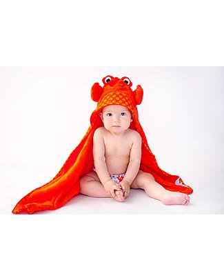 Zoocchini Asciugamano Baby con Cappuccio, Charlie il Granchio - 100% cotone Accappatoi e Asciugamani