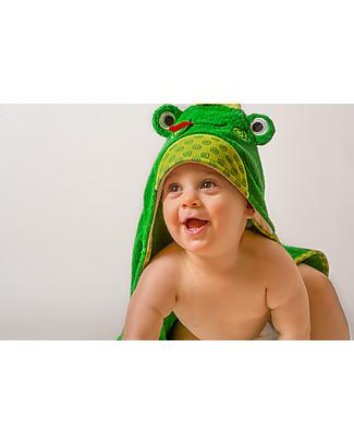Zoocchini Asciugamano Baby con Cappuccio, Flippy la Ranocchia – 100% cotone Accappatoi e Asciugamani