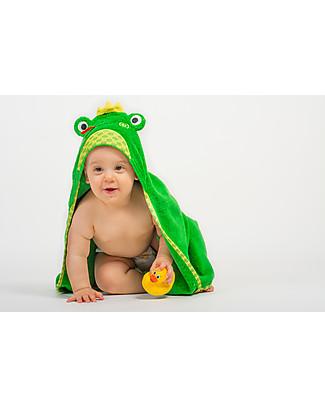 Zoocchini Asciugamano Baby con Cappuccio, Flippy la Ranocchia - 100% cotone Accappatoi e Asciugamani