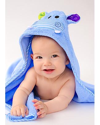 Zoocchini Asciugamano Baby con Cappuccio, Henry l'Ippopotamo - 100% cotone Accappatoi e Asciugamani