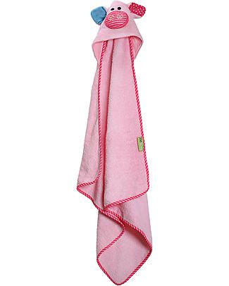 Zoocchini Asciugamano Baby con Cappuccio, Pinky il Maialino - 100% cotone Accappatoi e Asciugamani