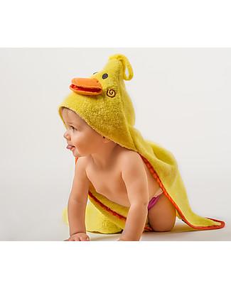 Zoocchini Asciugamano Baby con Cappuccio, Puddles l'Anatroccolo – 100% cotone Accappatoi e Asciugamani