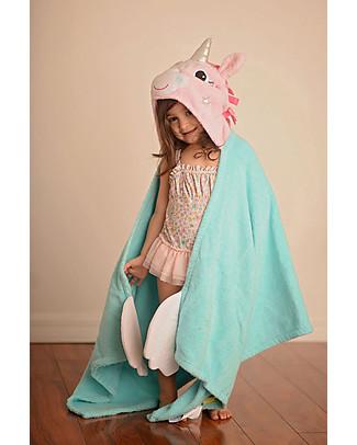 Zoocchini Asciugamano Bimbi con Cappuccio, Allie l'Unicorno – 100% cotone Accappatoi e Asciugamani