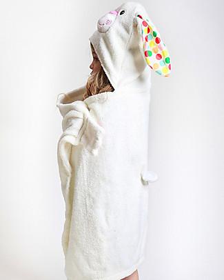 Zoocchini Asciugamano Bimbi con Cappuccio, Bella il Coniglio - 100% cotone Accappatoi e Asciugamani