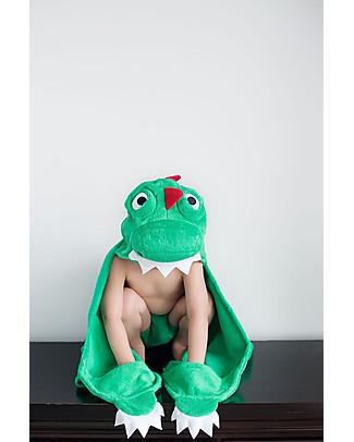 Zoocchini Asciugamano Bimbi con Cappuccio, Devin il Dinosauro - 100% cotone Accappatoi e Asciugamani