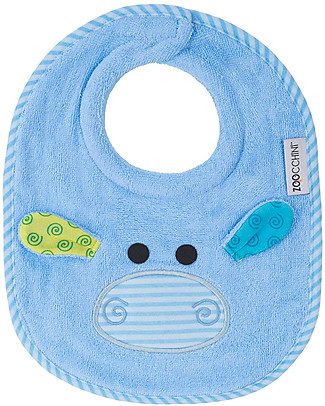 Zoocchini Bavaglino Baby, Henry l'Ippopotamo - 100% cotone Bavagli Classici
