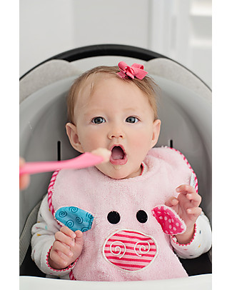 Zoocchini Bavaglino Baby, Pinky il Maialino - 100% cotone Bavagli Classici