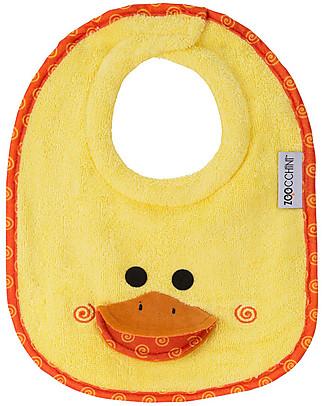 Zoocchini Bavaglino Baby, Puddles l'Anatroccolo - 100% cotone Bavagli Classici