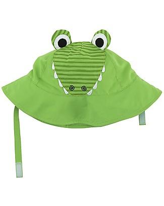 Zoocchini Cappellino Estivo UPF 50, Aiden il Coccodrillo - Diverte e protegge! Cappelli Estivi