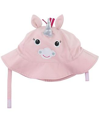 Zoocchini Cappellino Estivo UPF 50, Allie Unicorno - Diverte e protegge! Cappelli Estivi