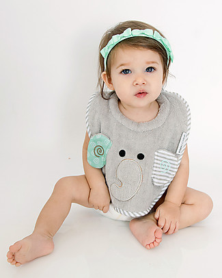 Zoocchini Dribble Bib, Ellie the Elephant – 100% cotton Snap Bibs