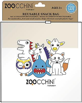 Zoocchini Sacchetti Cibo Riutilizzabili per Bambini, 22 pezzi – Riciclabili, senza BPA, piombo e ftalati! Sacchetto Cibo