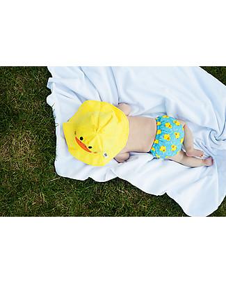 Zoocchini Set Baby Costumino Contenitivo + Cappellino, Anatroccolo - UPF 50+ Costumi Contenitivi