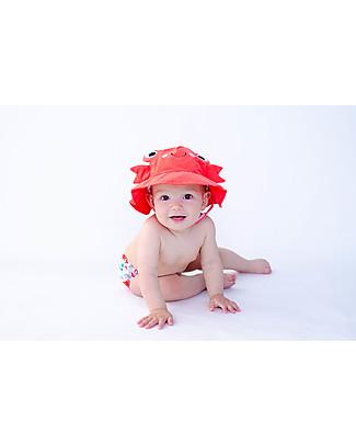 Zoocchini Set Baby Costumino Contenitivo + Cappellino, Granchio – UPF 50+ Costumi Contenitivi
