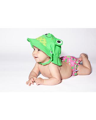 Zoocchini Set Baby Costumino Contenitivo + Cappellino, Rana – UPF 50+ Costumi Contenitivi