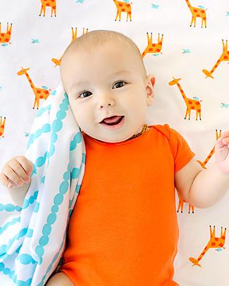 Zoocchini Set di 2 Copertine Baby in Morbida Flanella 100 x 100 cm, Giraffa/Acqua – 100% cotone Coperte