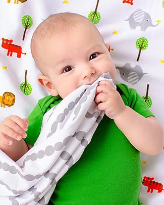 Zoocchini Set di 2 Copertine Baby in Morbida Flanella 100 x 100 cm, Safari/Grigio – 100% cotone Coperte