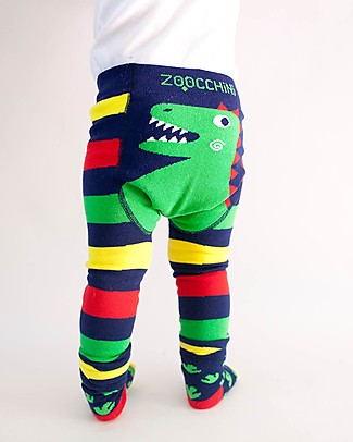 Zoocchini Set Leggings e Calzini Antiscivolo Grip+Easy - Devin il Dinosauro Leggings