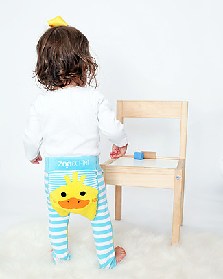 Zoocchini Set Leggings e Calzini Antiscivolo Grip+Easy - Puddles l'Anatroccolo Leggings