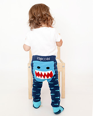 Zoocchini Set Leggings e Calzini Antiscivolo Grip+Easy - Sherman lo Squalo Leggings