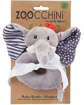 Zoocchini Sonaglio Baby, Elefante - Ciniglia Sonagli
