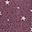 Braccialetto Orologio di Stoffa Prugna a Stelline - Regalino perfetto per le feste