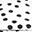 Tappeto Gioco Matelas, Pois Neri - 100% Cotone Bio, 100 x 100 cm
