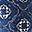 Braccialetto Orologio di Stoffa Fantasia Blu - Regalino perfetto per le feste!