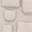 Porta Oggetti da Muro, Cipria - 100% Cotone
