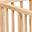 Louis, Box Ovale in Legno di Faggio, Naturale - Quattro sbarre amovibili!