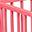 Louis, Box Ovale in Legno di Faggio, Rosa - Quattro sbarre amovibili!