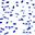 Tappeto Gioco Matelas, Forme Blu - 100% Cotone Bio, 100 x 100 cm