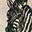 Borsellino Animale, Zebra in cotone - Regalino perfetto per le feste