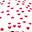 Tappeto Gioco Matelas, Cuori Fucsia - 100% Cotone Bio, 100 x 100 cm